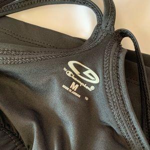 Champion Tops - CHAMPION black workout tank top, built in bra
